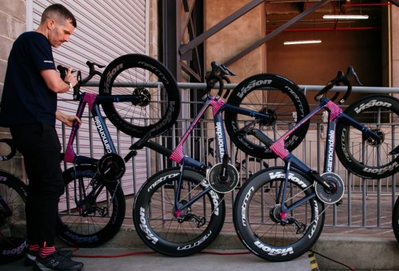 EF Pro Cycling Cannodale bikes