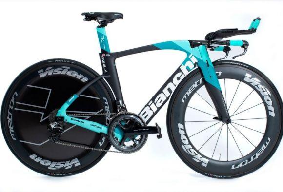 Team BikeExchange Bianchi TT bike.