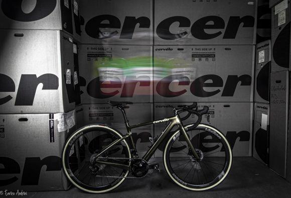 The Cervélo Aspero with Vision wheels