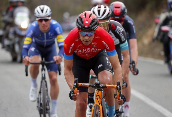Mikel Landa, leader of Team Bahrain-Victorious