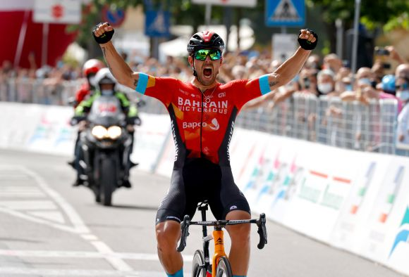 The new Italian champion Sonny Colbrelli.