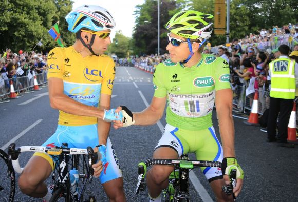 Vincenzo Nibali and Peter Sagan in 2014