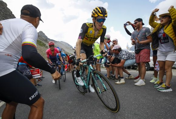 Steven Kruijswijk in action on the final TDF mountain stage