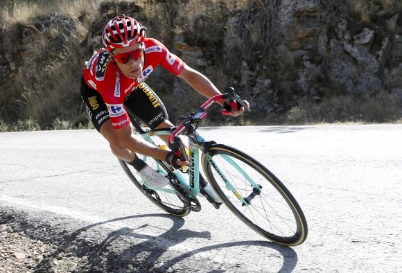 Primoz Roglic in action.