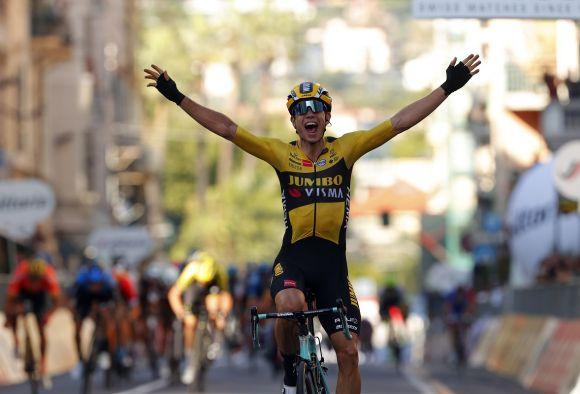Wout Van Aert wins Milano-Sanremo