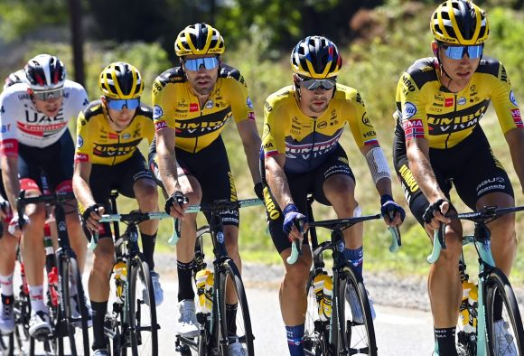Team Jumbo-Visma in action at Tour de France