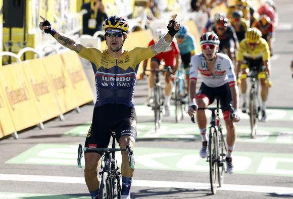 Primoz Roglic win Tour de France stage #4