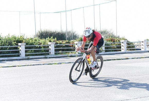 Luca Gargiulo in azione con le ruote Vision Metron.